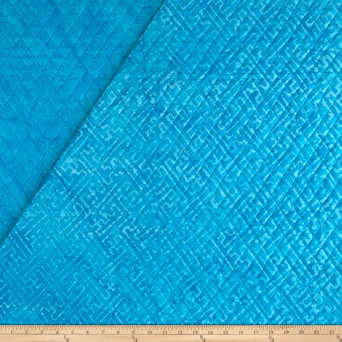 Indian Batik Double Face Quilted Abstract Aqua