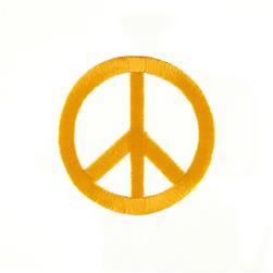 Peace Sign with Large Ray Applique Yellow