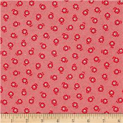Lecien Flower Sugar Flower Dots Red