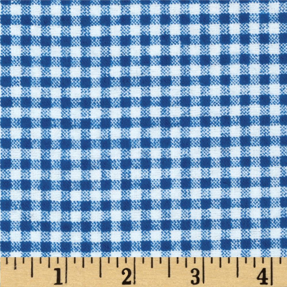 Camelot Flannel Gingham Royal Blue