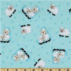 Comfy Flannel Sheep Blue