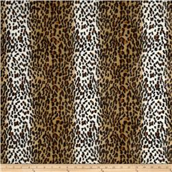 Velboa Faux Fur Cheetah Gold Fabric