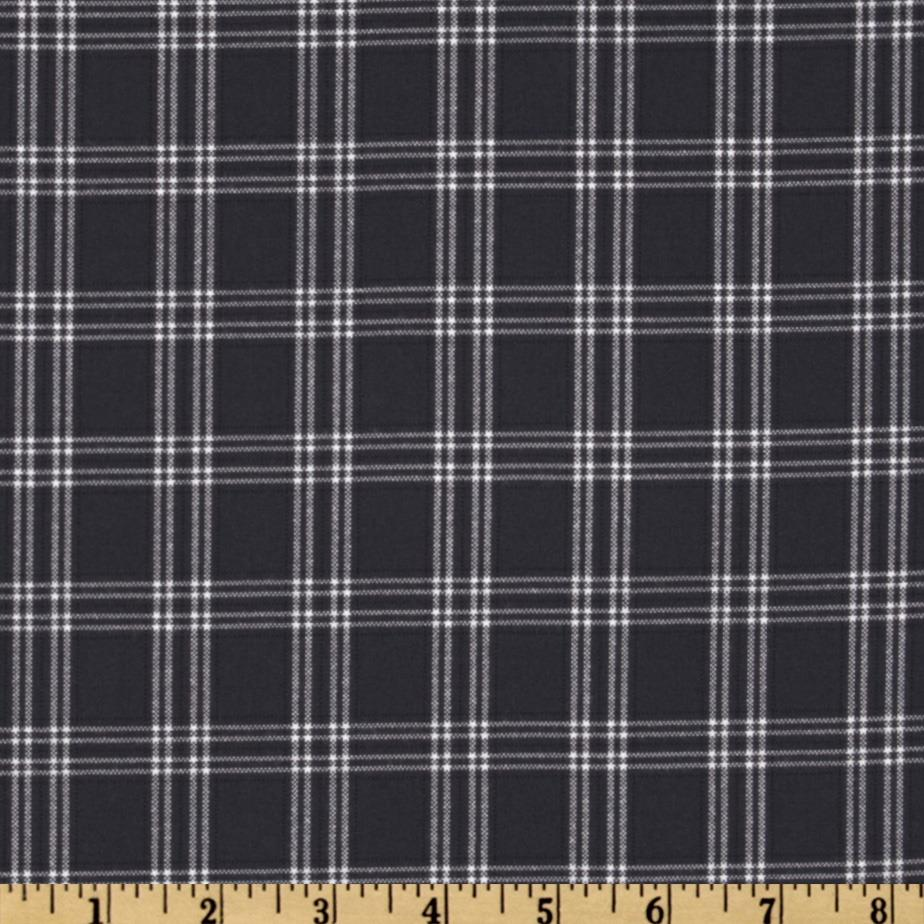 Designer Yarn Dyed Suiting Plaid Navy/White