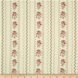 Gentle Gardens Needlepoint Stripe Cream