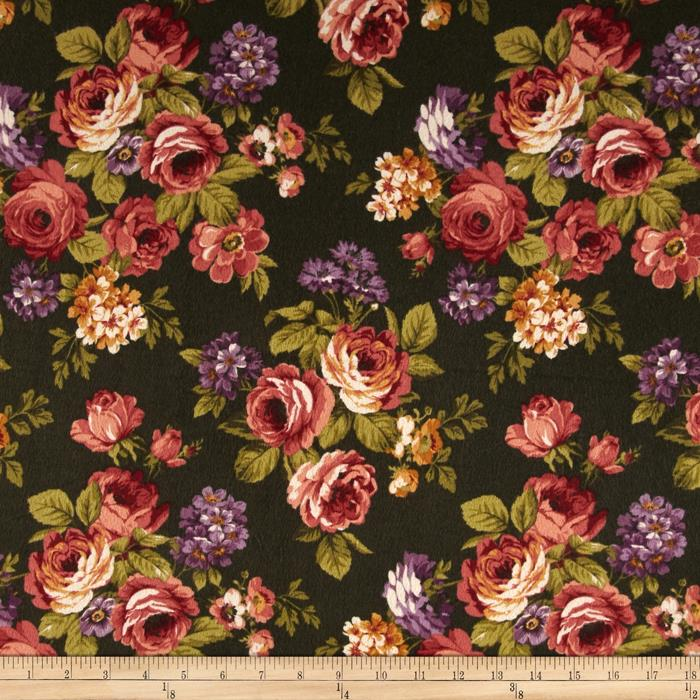 Kensington Flannel Kensington Hunter Fabric By The Yard