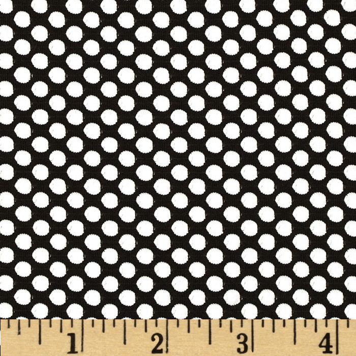 Nina Dot Knit Black/White Fabric