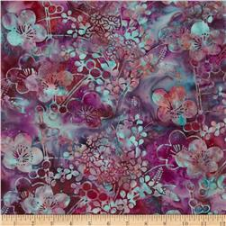 Bali Batiks Handpaints Asian Floral Winter Cherry