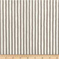 Minky Cuddle Classic Mini Stripe Silver/White Fabric