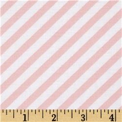 Steppin' Out Diagonal Stripe White/Pink