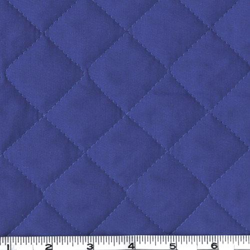 Double-Sided Quilted Broadcloth Blue Fabric By The Yard