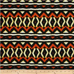 Techno Scuba Knit Tribal Orange/Yellow