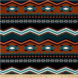 ITY Knit Chevron Dot Teal Orange