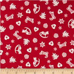 Christmas Scandi Scatter Red
