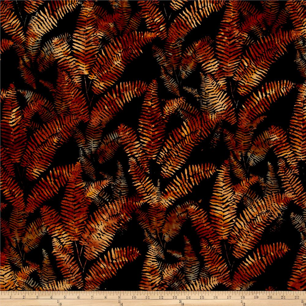 Bali Handpaints Batiks Fern Copper
