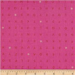 Cotton & Steel Playful Word Find Pink