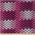Silky Hatchi Knit Chevron Purple/Pink