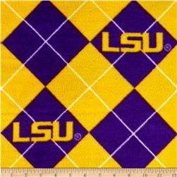 Collegiate Fleece Louisiana State University Argyle Purple/Gold