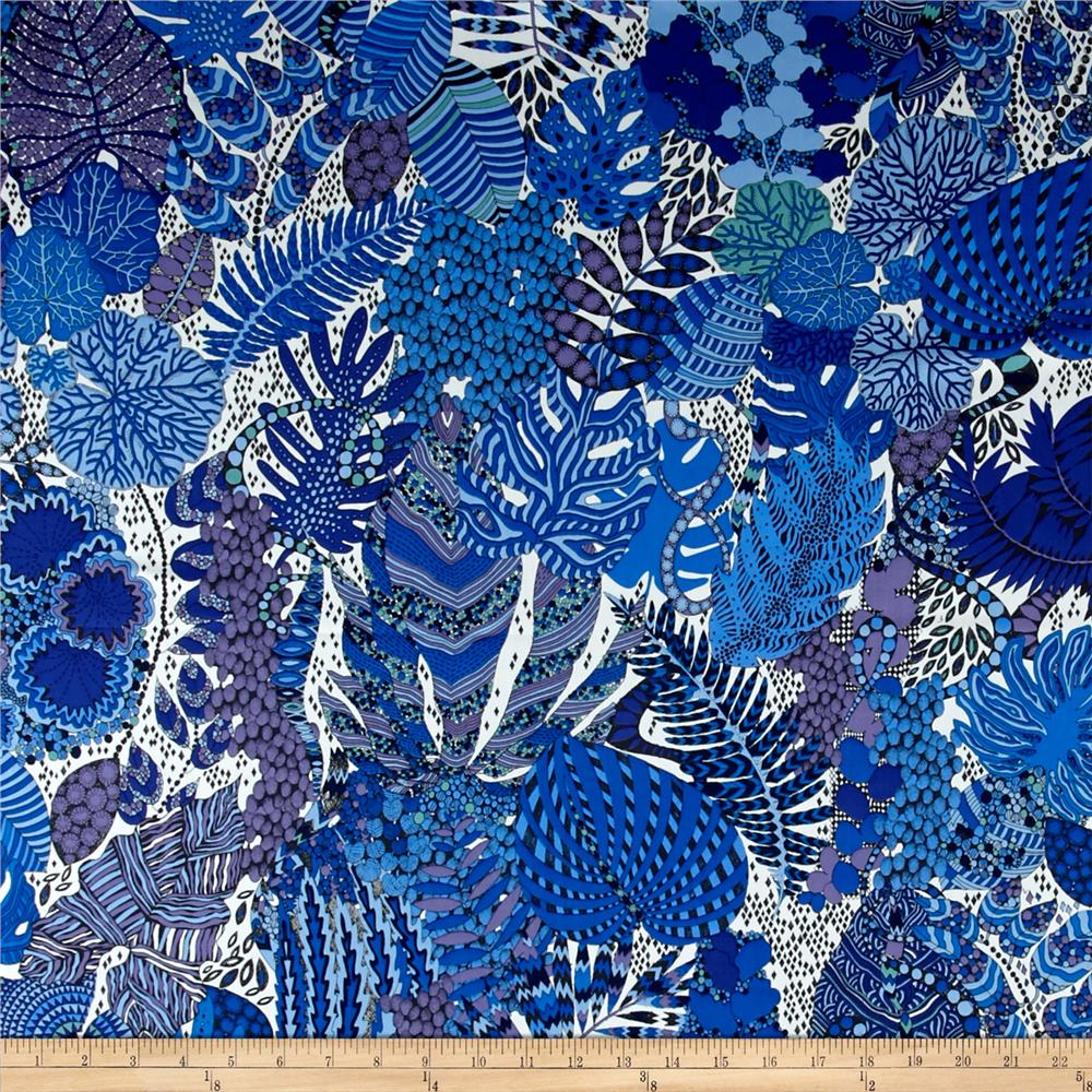 Liberty of London Tana Lawn Fornasetti Forest Royal Blue