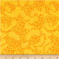 Timeless Treasures Color Crust Packed Floral Sun