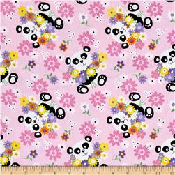 Comfy Flannel Panda's Pink