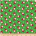 Timeless Treasures Christmas Mini Santas Green