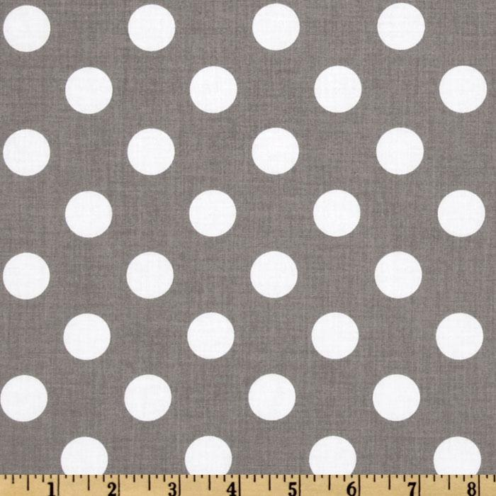 Riley Blake Dots Medium Gray