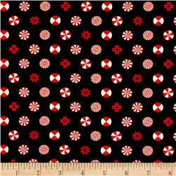 Tula Pink Holiday Homies Peppermint Stars Ink