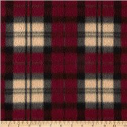 Fleece Plaid Beige/Red/Black