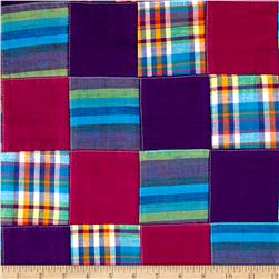 Cotton Patchwork Madras Purple