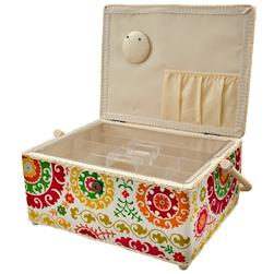 Sewing Basket Rectangle White
