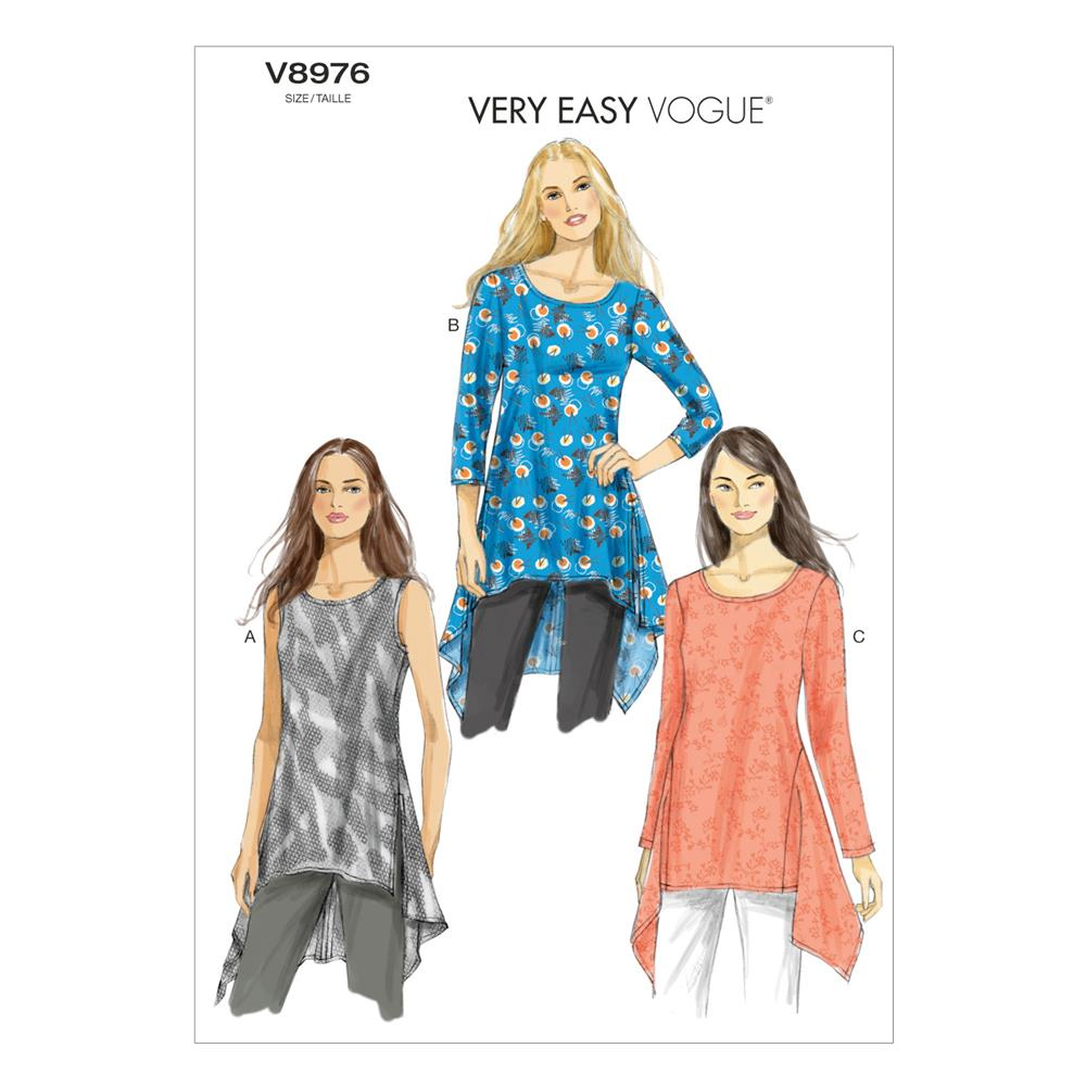 Vogue Misses' Tunic Pattern V8976 Size 0Y0