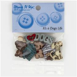 Dress It Up Embellishment Buttons  It's  A Dogs Life