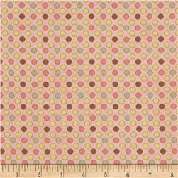 Let it Bee Dot Pink Fabric