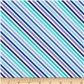 Moda Dot .Dot.Dash-! Diagonal Stripe Blue/Turquoise
