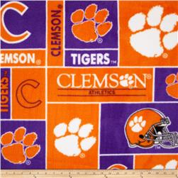 Collegiate Fleece Clemson University Orange Fabric