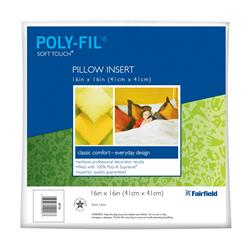 "Fairfield Soft Touch Supreme Poly-Fil Pillow 16"" Square"