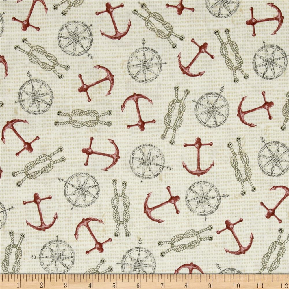 Seaside Anchors & Ropes Beige