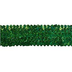 1 3/4'' Stretch Square Sequin Trim Green