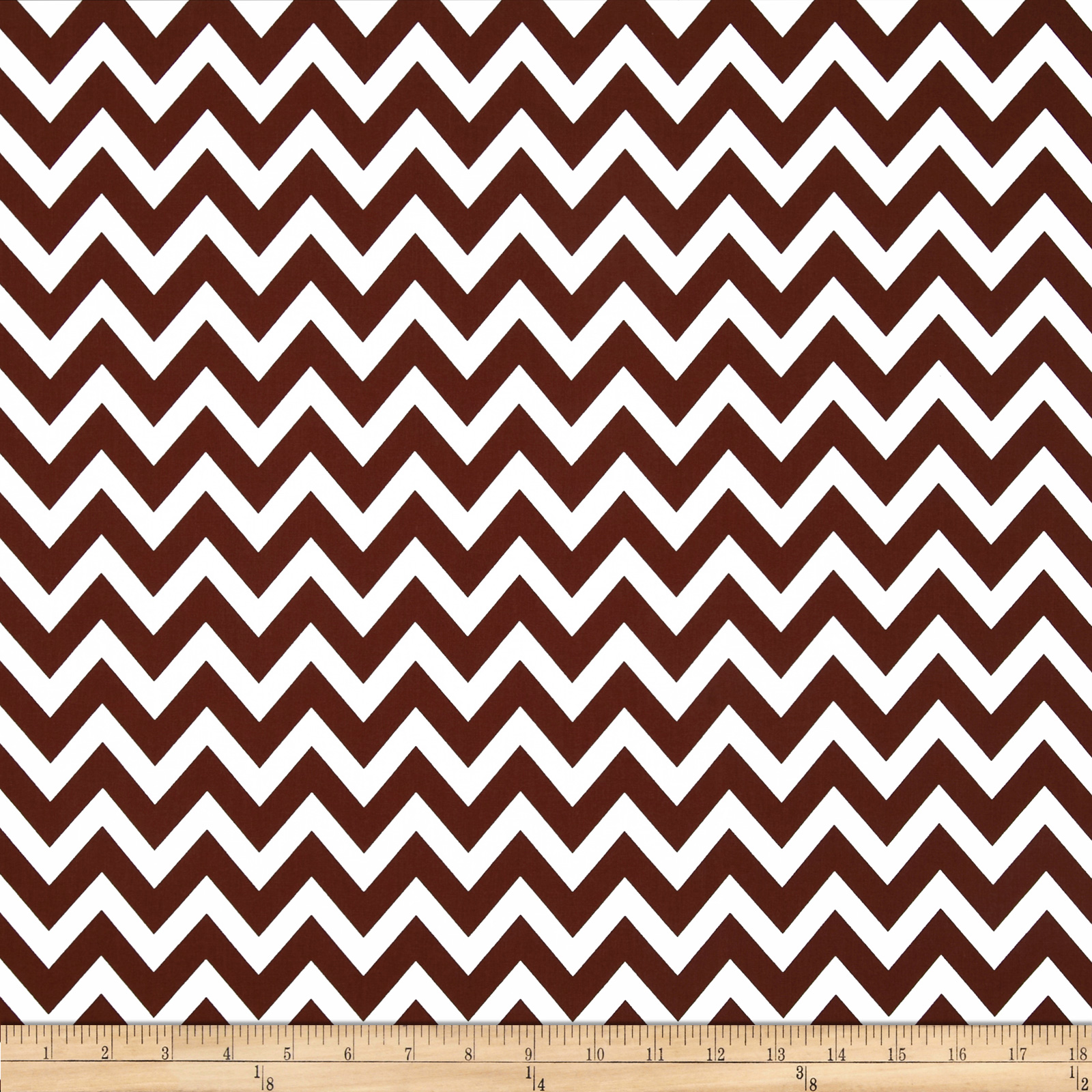 Remix Chevron Brown Fabric