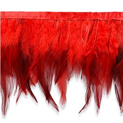 "5 1/2"" Jaylo Feather Trim Red"