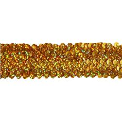 1 1/2'' Stretch Starlight Sequin Trim Gold