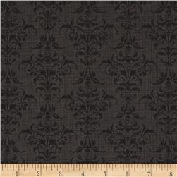 Chillingsworth Skull Damask Black
