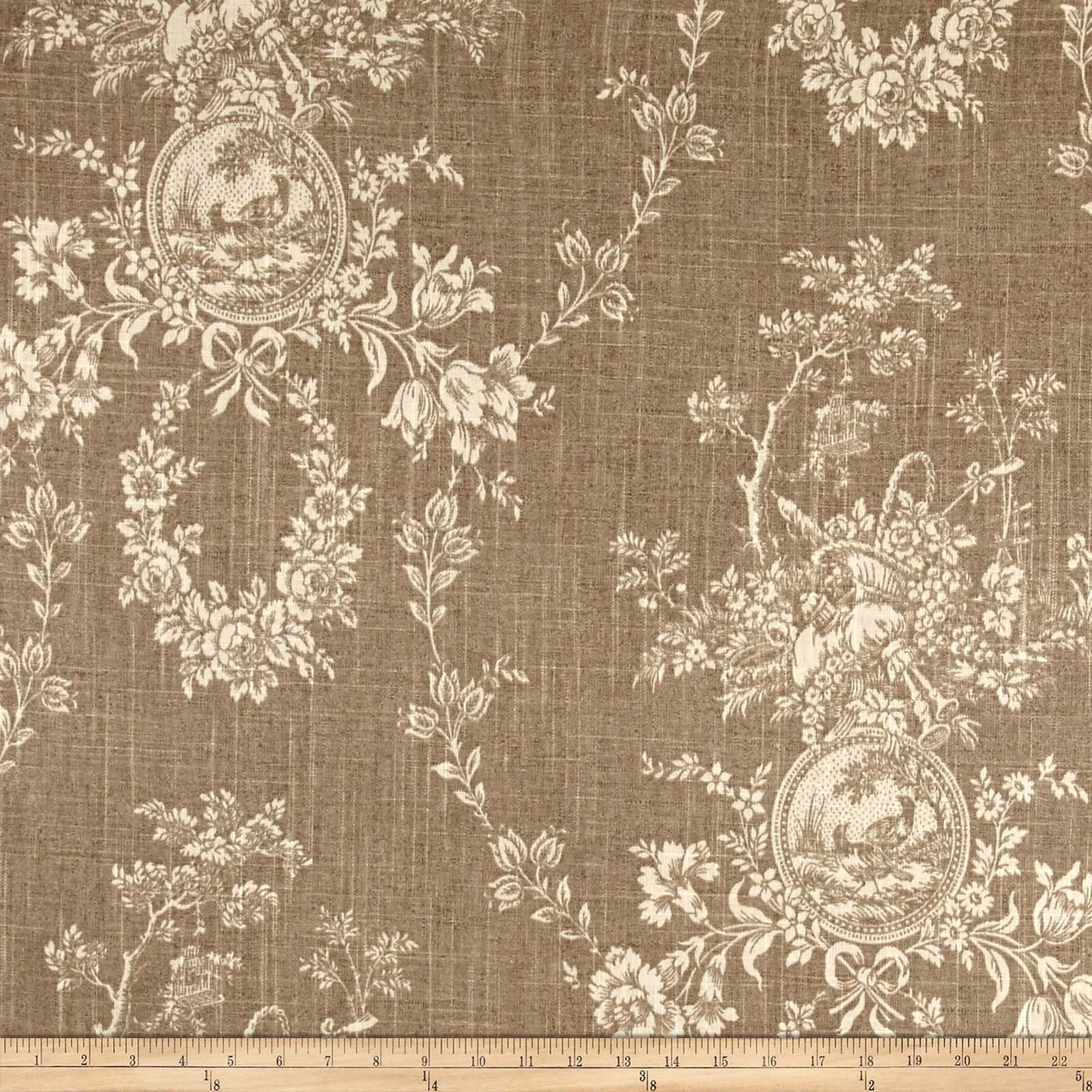 Waverly Country House Toile Linen Fabric by Waverly in USA