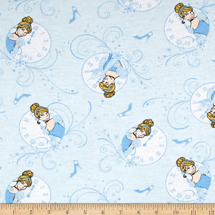 Disney Cinderella Flannel Allover Light Blue
