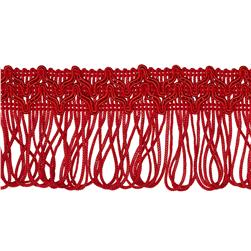 2'' Sharlene Loop Chainette Fringe Red