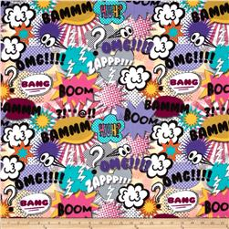 Michael Miller Bam Flannel Girl Fabric