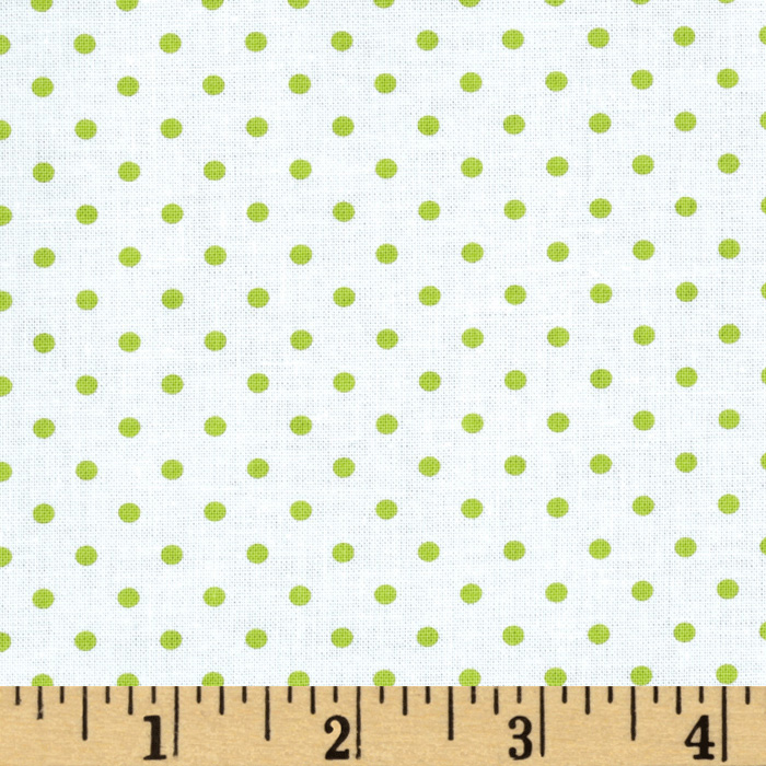Michael Miller Petit Point Limeade Fabric