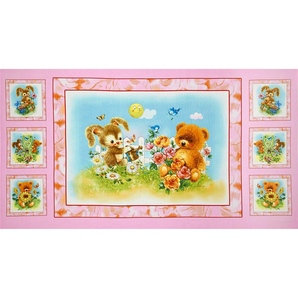 Best Friends Girl Panel Pink