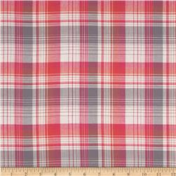 Yarn Dyed Plaid Shirting Gray/Red