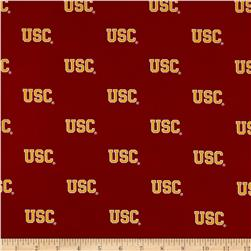 Collegiate Cotton Broadcloth University of Southern California Cardinal